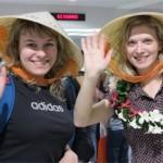 Du khách Nga tại sân bay Tân Sơn Nhất